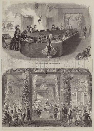 The Rothschild Marriage. Illustration for the Illustrated Times, 14 March 1857.