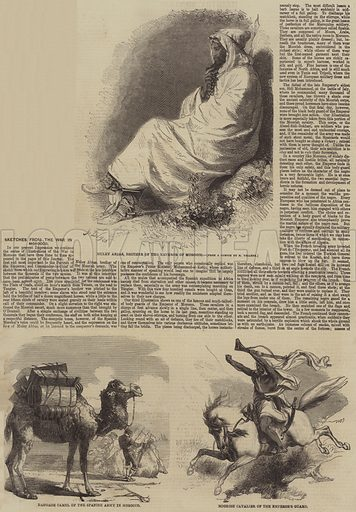 Sketches from the War in Morocco. Illustration for the Illustrated Times, 31 March 1860.