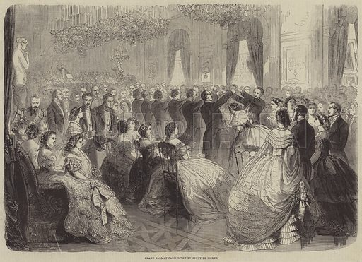 Grand Ball at Paris given by Count de Morny. Illustration for the Illustrated Times, 8 June 1861.