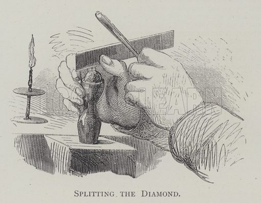 Splitting the Diamond. Illustration for The Practical Magazine, Volume III, 1874.