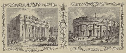 The Townhall and the Exchange. Illustration for The Pictorial Times, 2 September 1843.