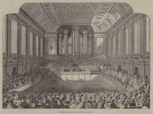 The Birmingham Grand Musical Festival. Illustration for The Pictorial Times, 30 September 1843.