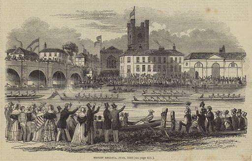Henley Regatta, June 1844. Illustration for The Pictorial Times, 29 June 1844.