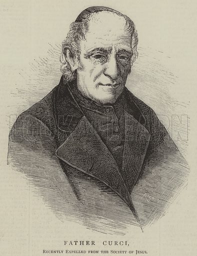 Father Curci, Recently Expelled from the Society of Jesus. Illustration for The Pictorial World, 2 March 1878.
