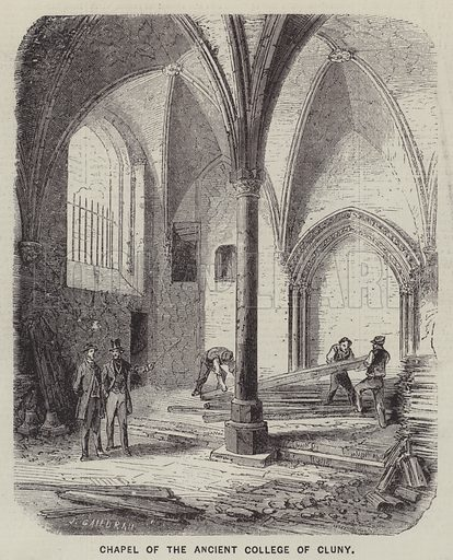 Chapel of the Ancient College of Cluny. Illustration for The Illustrated News of the World, 16 June 1860.
