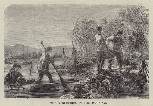 The Reservoirs in the Morning. Illustration for The Illustrated News of the World, 16 June 1860.