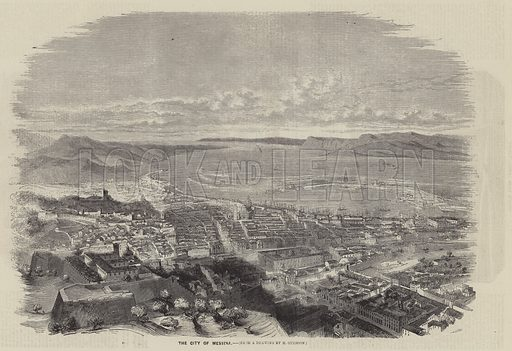 The City of Messina. Illustration for The Illustrated News of the World, 30 June 1860.