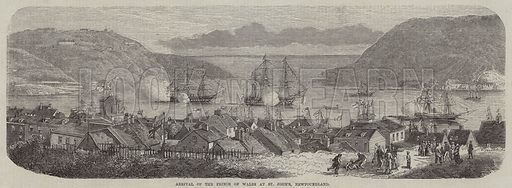Arrival of the Prince of Wales at St John's, Newfoundland. Illustration for The Illustrated News of the World, 13 October 1860.