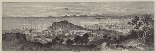 View of Nice. Illustration for The Illustrated News of the World, 14 July 1860.