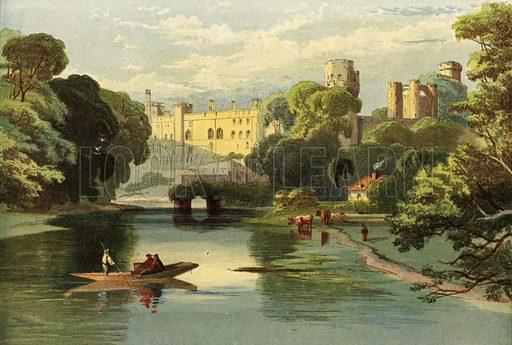 Warwick Castle, picture, image, illustration
