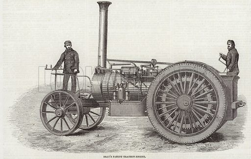 Bray's Patent Traction Engine.  From the Illustrated London News, 29 May 1858.