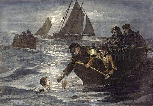 Captain Webb, picture, image, illustration