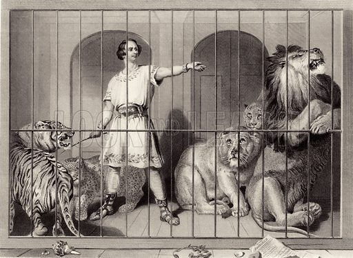 Van Amburgh and the Lions