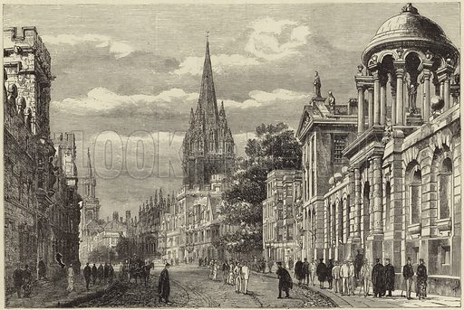 Oxford illustrated - 'the high'. Published in The Graphic, 3 June 1882.