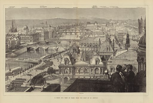 A Bird's Eye View of Paris from the Roof of St Gervais.