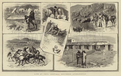 Life at the Chotiall Southern Afghanistan. From The Graphic, 8 October 1881.