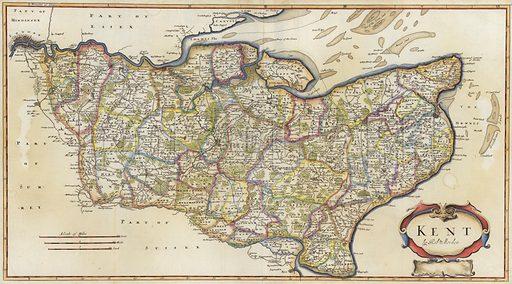 Map of Kent, by Robert Morden.
