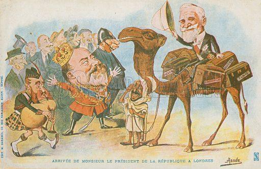 """Edward VII; French President; Emile Loubet. Signed """"Assils""""."""