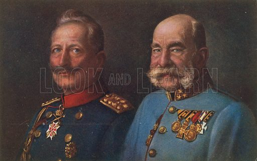 Wilhelm II and Franz Joseph I.