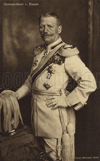 General von Einem.