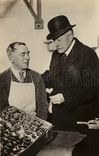 Earl Haig at British Red Poppy factory.