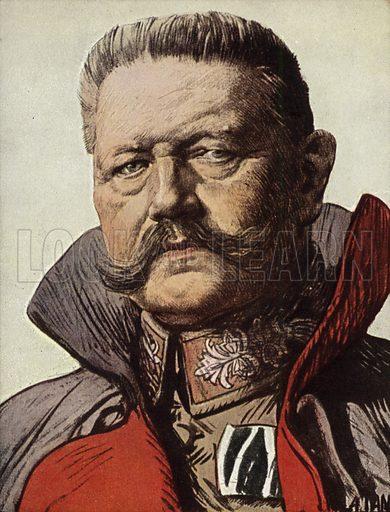 Paul von Hindenburg.