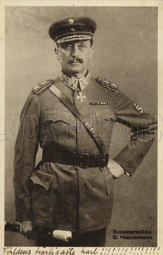 Baron Carl Gustaf Emil Mannerheim.