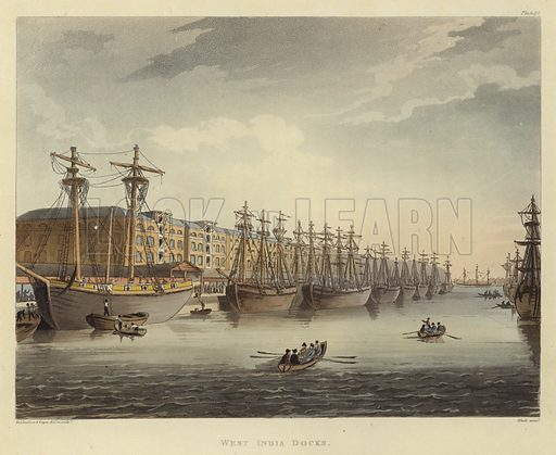 West India Docks, picture, image, illustration
