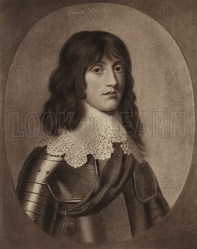 Maurice, Prince Palatine. After the Gerrit von Honthorst painting in the collection of the Earl of Craven at Combe Abbey.