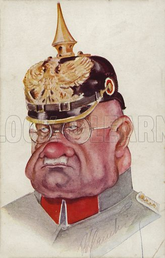 Caricature of a WW1 German general - Look and Learn History