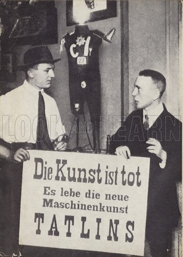 Kasimir Malevich and Vladimir Tatlin at the first International Dada exhibiiton in June 1920. Art is dead.