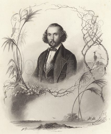 Felicien-Cesar David, French composer, drawn and engraved by Albert Henry Payne.