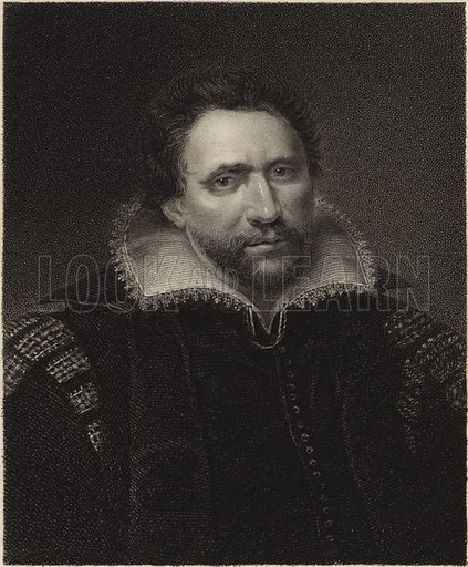 Ben Jonson, from a picture in the possession of Mrs Knight. Engraved by Edward Scriven. Under the Superintendance of the Society for the Diffusion of Useful Knowledge.