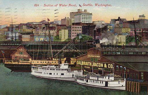 Seattle dock, picture, image, illustration