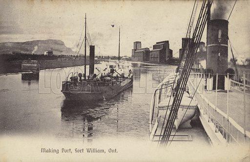 Making port, Fort William, Ontario, Canada.