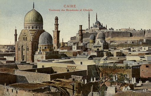 Tombs of the Mamluks and the Citadel, Cairo, Egypt.