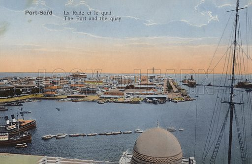 The port and the quay, Port Said, Egypt.