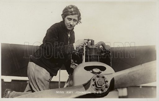 Amy Johnson, picture, image, illustration