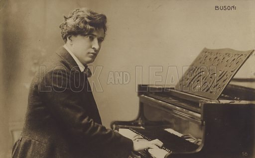 Ferruccio Busoni, Italian composer, pianist, editor, writer, teacher and conductor (1866-1924).