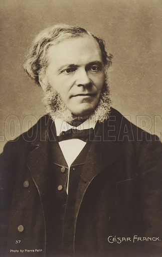 Cesar Franck, Belgian born composer, pianist, organist, and music teacher who worked in Paris during his adult life (1822–1890). Photograph by Pierre Petit.