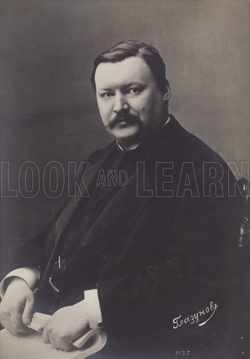 Alexander Glazunov, Russian late Romantic composer (1865–1936). Photograph taken circa early twentienth century.