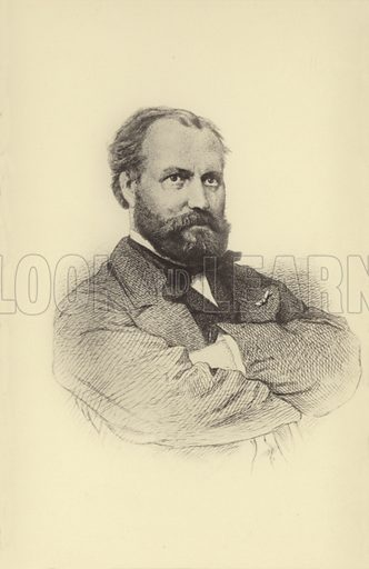 Charles Gounod, French composer (1818 -1893). Postcard printed in the Netherlands and published by J Philip Kruseman, The Hague.