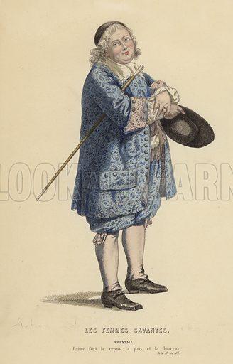 Les Femmes Savantes. Illustration for Oeuvres Completes de Moliere (Laplace, Sanchez et Cie, 1885).