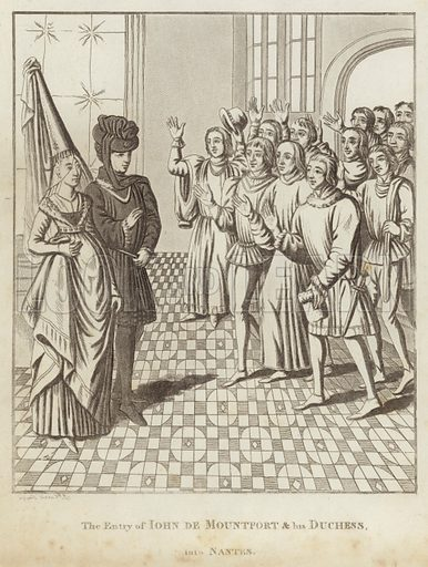 The Entry of John de Mountfort & his Duchess, into Nantes.