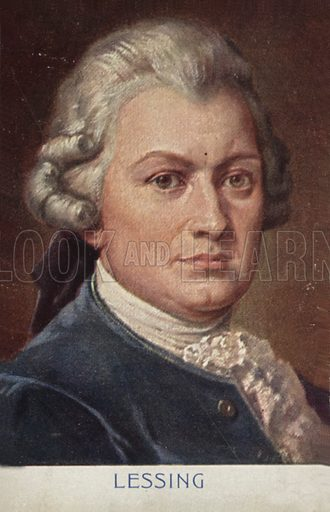 Portrait of Gotthold Ephraim Lessing, German writer, philosopher and dramatist.