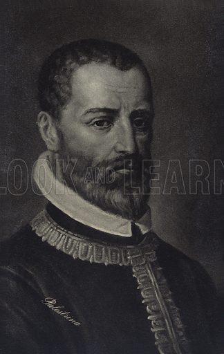 Portrait of Giovanni Pierluigi da Palestrina, Italian Renaissance composer of sacred music.