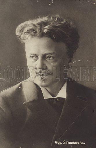 Portrait of August Strindberg, Swedish playwright, novelist, poet, essayist and painter.