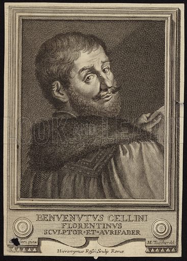Benvenuto Cellini. 3 November 1500 – 13 February 1571. Italian goldsmith, sculptor, painter, soldier and musician who also wrote a famous autobiography. He was one of the most important artists of Mannerism.