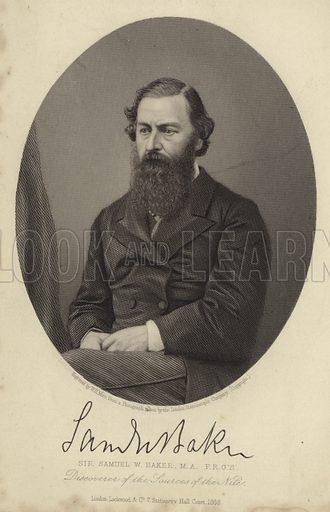 Sir Samuel White Baker (1821-1893). British explorer, writer, naturalist, traveller who discovered Lake Albert.
