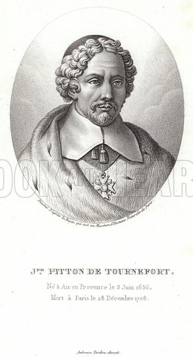 Joseph Pitton de Tournefort (1656-1708). French botanist noted for his definitions of genus.